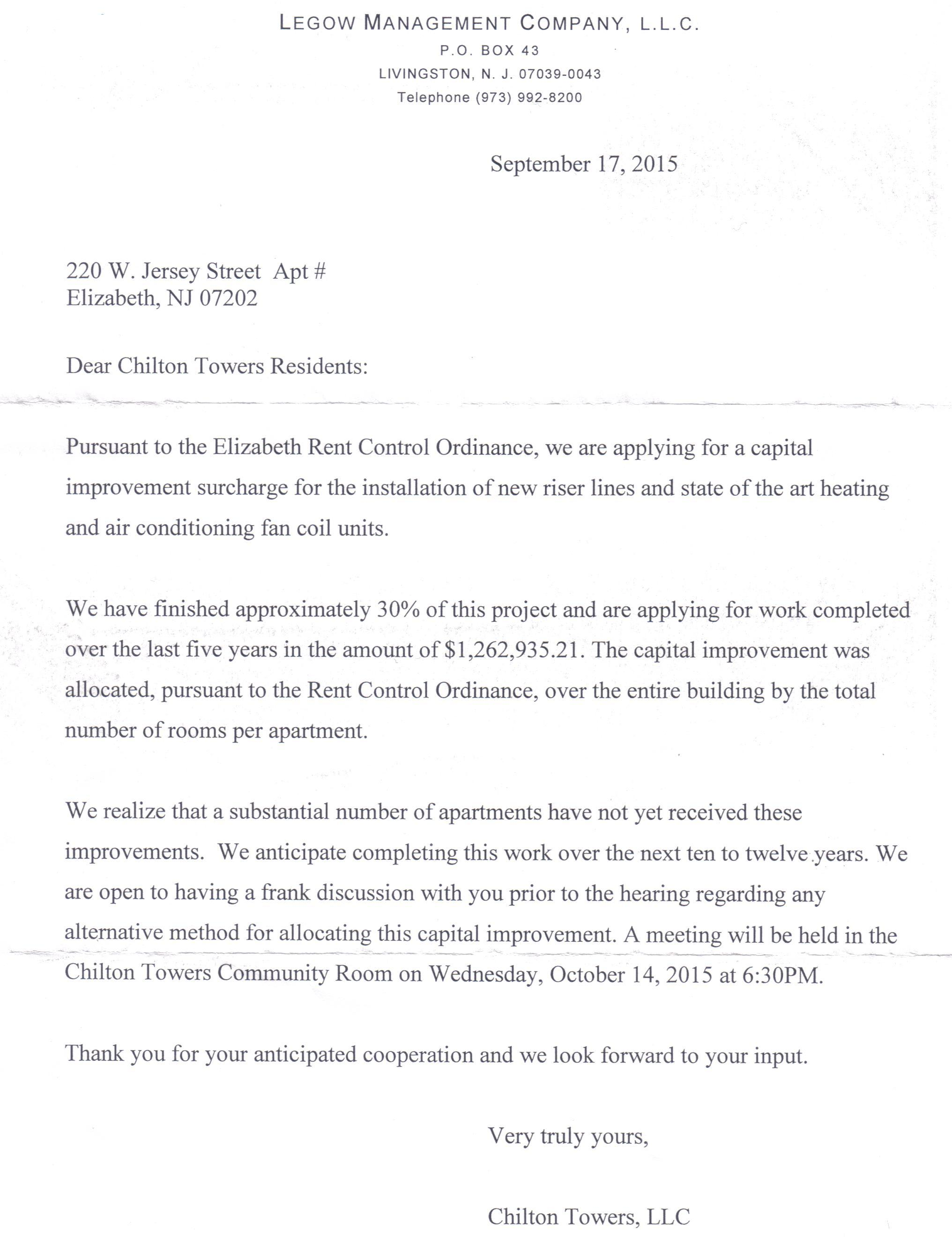 rent increase letter to tenant